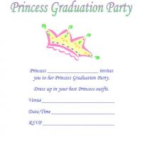Princess Graduation Party Invite