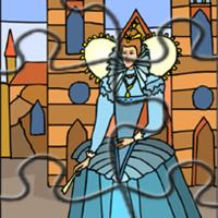 Princess In Blue Gown