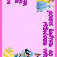Princess Themed Party Invitation