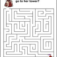 Printable Princess Tower Maze - Printable Mazes - Free Printable Games