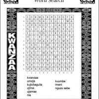 Principles Of Kwanzaa Word Search