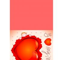 Printable Big Red Heart Mother's Day Card