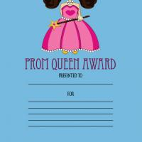 Printable Prom Queen Award - Printable Awards - Misc Printables