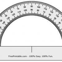 Printable Protractor - Printable Ruler - Free Printable Crafts