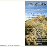 Printable Psalm 121 Easter Card - Printable Easter Cards - Free Printable Cards