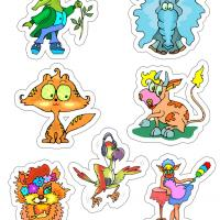 Printable Psychedelic Animal Sticker - Printable Stationary - Free Printable Activities