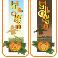 Pumpkin And Scarecrow Bookmarks