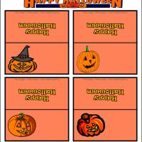 Printable Pumpkin Place Cards - Printable Place Cards - Free Printable Cards
