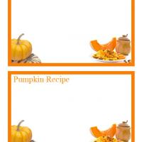 Pumpkin Recipe Cards