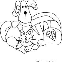 Printable Puppy and Kitten - Printable Coloring Sheets - Free Printable Coloring Pages