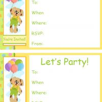 Puppy with Balloons Birthday Invitation