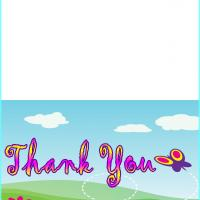 Purple Butterfly Thank You Card