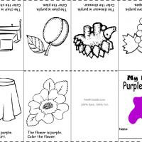 Printable Purple Color Recognition - Printable Preschool Worksheets - Free Printable Worksheets