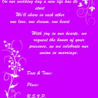 Purple Floral Wedding Invite