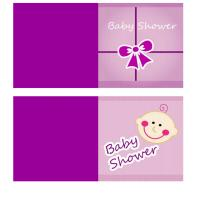 Purple Set Baby Gift Cards