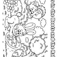 Puss in the Boots and the Rabbit Coloring Sheets