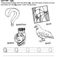 Printable Q Beginning Consonant - Printable Preschool Worksheets - Free Printable Worksheets