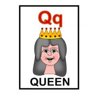 Printable Q is for Queen Flash Card - Printable Flash Cards - Free Printable Lessons