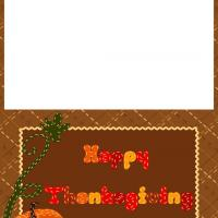 Printable Quilted Pumpkin Thanksgiving Greeting Cards - Printable Greeting Cards - Free Printable Cards