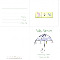 "Printable It's Raining Babies Baby"" Shower Invitation - Baby Shower and Christening Invitations Cards - Free Printable Invitations"