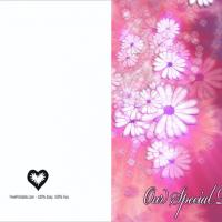 """Our Special Day"" Blank Wedding Invitation"