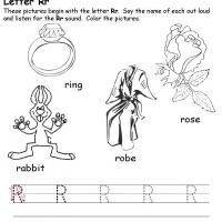 Printable R Beginiing Consonant - Printable Preschool Worksheets - Free Printable Worksheets