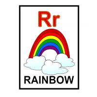 R is for Rainbow Flash Card