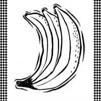 Printable Rack of Bananas - Printable Flash Cards - Free Printable Lessons
