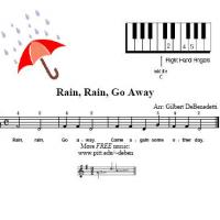 Printable Rain Rain Go Away For Piano - Printable Piano Music - Free Printable Music