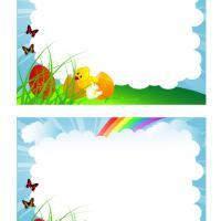 Printable Rainbow Easter Frame Scrapbook - Printable Scrapbook - Free Printable Crafts