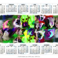 Printable Rainbow Pets Calendar - Printable Calendar Pages - Free Printable Calendars