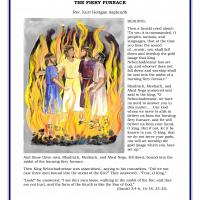 Printable Reading & Discussion: Fiery Furnace for Preschool - Printable Church Worksheets and Lessons - Free Printable Worksheets
