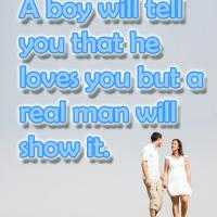 Printable Real Man Shows Love - Printable Motivational Quotes - Free Printable Quotes