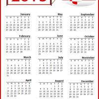 Printable Red Airplane 2013 Calendar - Printable Yearly Calendar - Free Printable Calendars