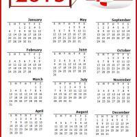 Red Airplane 2013 Calendar