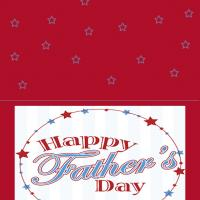 Printable Red And Blue Themed Card - Printable Fathers Day Cards - Free Printable Cards