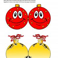 Printable Red and Yellow Christmas Tree Balls - Printable Templates - Free Printable Activities