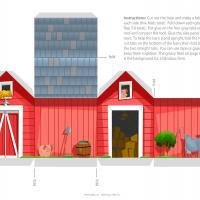 Printable Red Barn Paper Craft - Printable Stuff - Misc Printables