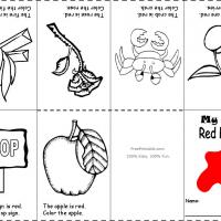 Printable Red Color Recognition - Printable Preschool Worksheets - Free Printable Worksheets