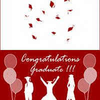 Printable Red Graduation Card - Printable Graduation Cards - Free Printable Cards