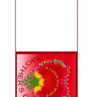Red I Love You Mom Mother's Day Card