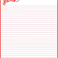 Printable Red Love and Hearts - Printable Stationary - Free Printable Activities