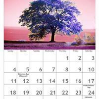 Printable Red October Scenery Calendar - Printable Calendar Pages - Free Printable Calendars