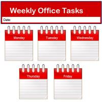 Printable Red Office Task List - Printable Chore Charts - Free Printable Activities
