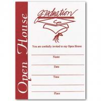 Printable Red Open House Invitation - Printable Graduation Invitations - Free Printable Invitations
