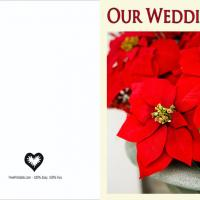 Red Poisenttia Blank Wedding Invitation