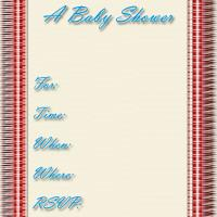 Red Quilt Baby Shower Invitation