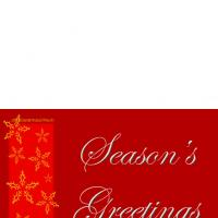 Red Season's Greetings Card