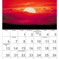 Printable Red September Scenery Calendar - Printable Calendar Pages - Free Printable Calendars