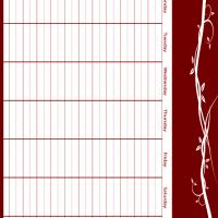 Red Themed 8 to 6 Weekly Planner